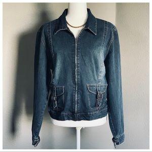 Denim Jacket With Zipper Clausure